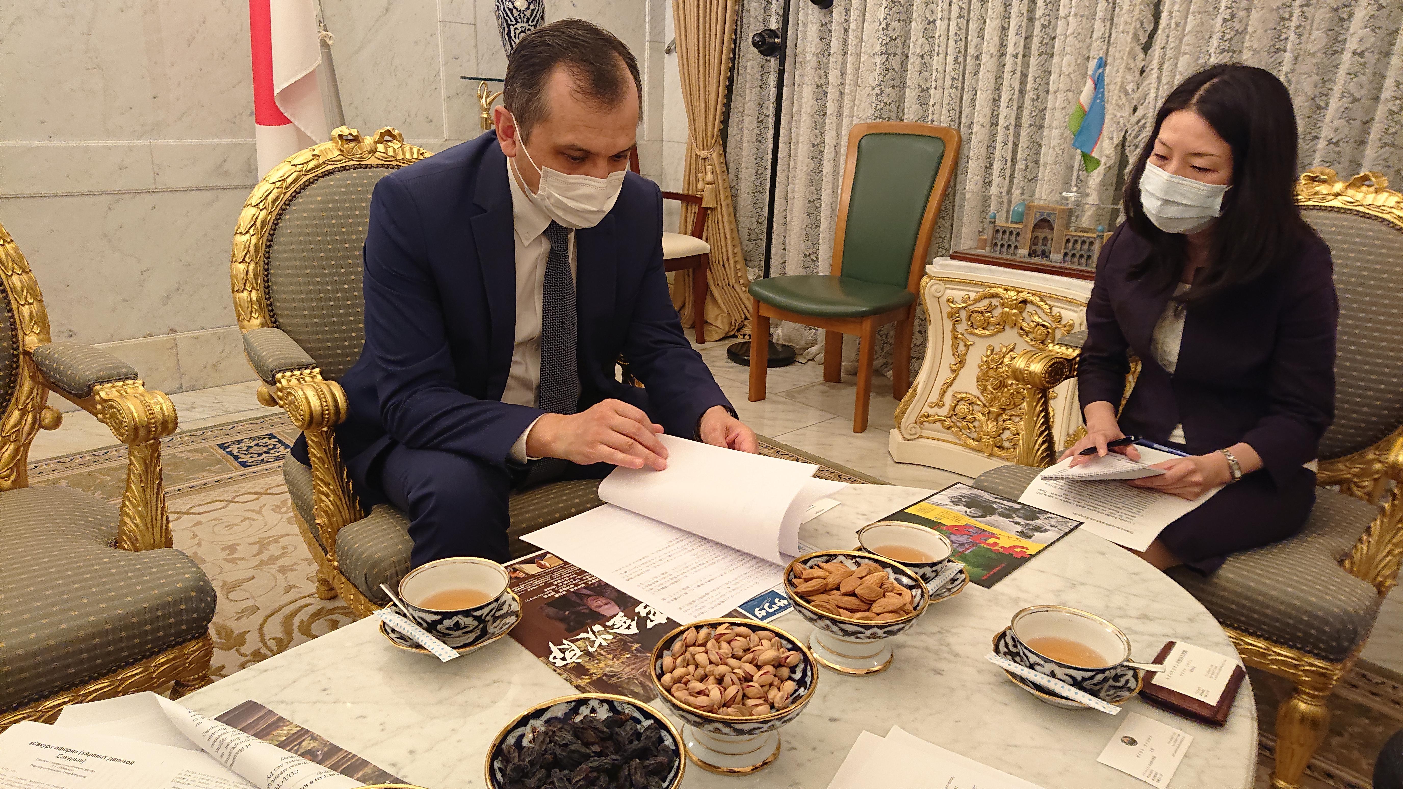 #ウズベキスタン #大使 #五十嵐匠 #はちみつ